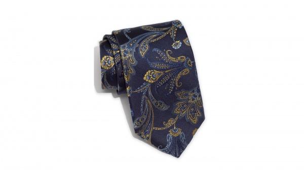 Robert Talbott Dark Blue Paisley Silk Tie Robert Talbott Dark Blue Paisley Silk Tie