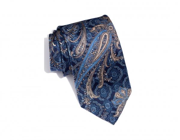 Robert Talbott Navy Paisley Silk Tie Robert Talbott Navy Paisley Silk Tie