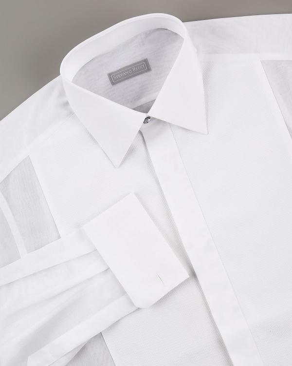 Stefano Ricci Pique Front Formal Shirt Stefano Ricci Pique Front Formal Shirt