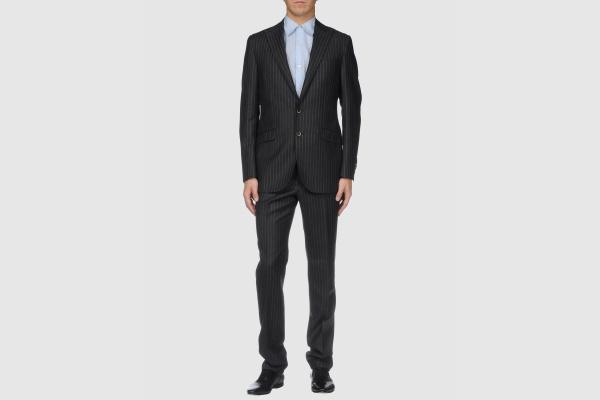 Trend Corneliani Grey Pinstripe Suit Trend Corneliani Grey Pinstripe Suit