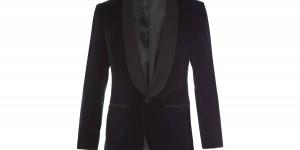 A. Sauvage Velvet Shawl Collar Evening Jacket 1