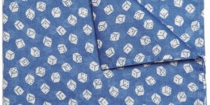 AUBIN & WILLS Davison Dice Pocket Square