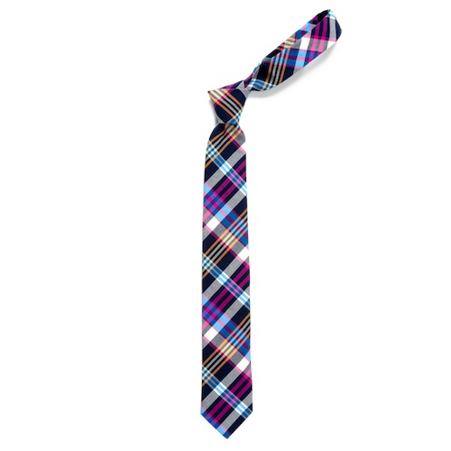 blue plaid tie. This Alcott Plaid Necktie has