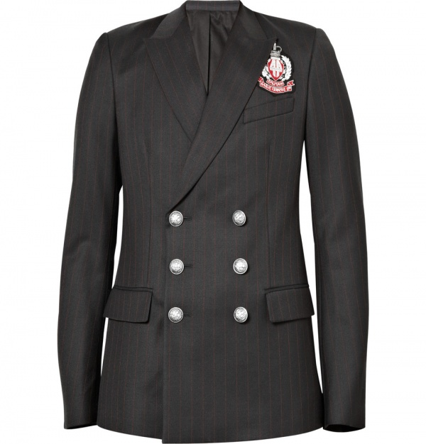 Balmain Double Breasted Emblem Blazer Balmain Double Breasted Emblem Blazer