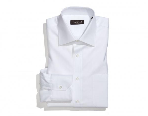Canali Regular Fit White Dress Shirt Canali Regular Fit White Dress Shirt