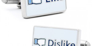 Facebook 'Like' & 'Dislike' Cufflinks