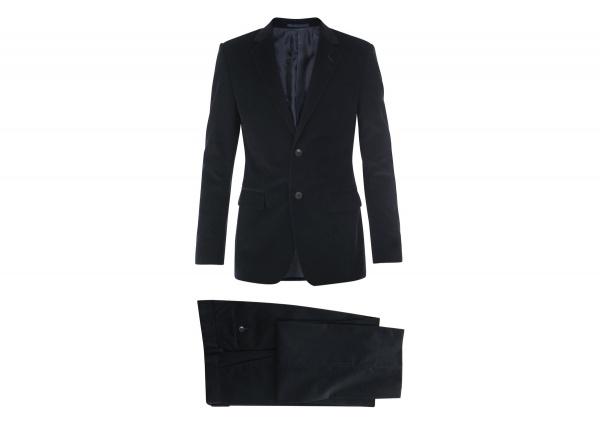 Gucci Fine Corduroy Navy Suit 1 Gucci Fine Corduroy Navy Suit