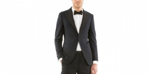 Hickey Freeman for Opening Ceremony Navy Weave Dinner Jacket 1