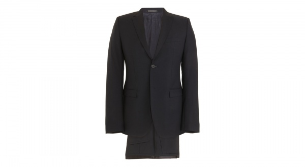 Jil Sander Satin Trimmed Tailor Made Navy Suit Jil Sander Satin Trimmed Tailor Made Navy Suit