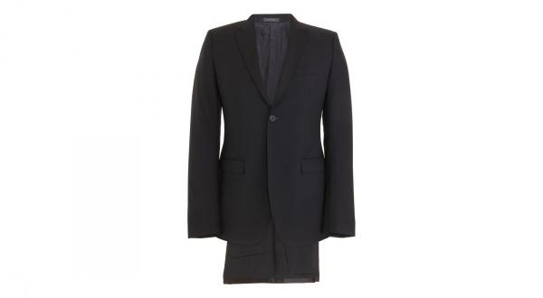 Jil Sander Satin Trimmed Tailor Made Navy Suit Jil Sander Satin Trimmed Tailor Made Navy Suit