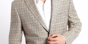 Luxury Worsted Wool Tartan Check Jacket