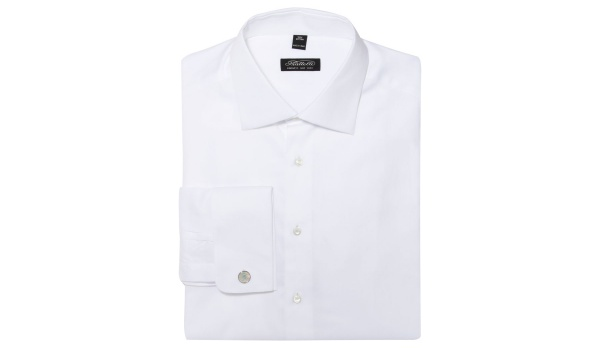Piatelli White Pique Dress Shirt Piatelli White Pique Dress Shirt