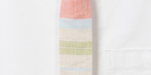 The Hill-Side Pastel Stripe Organic Tie 1