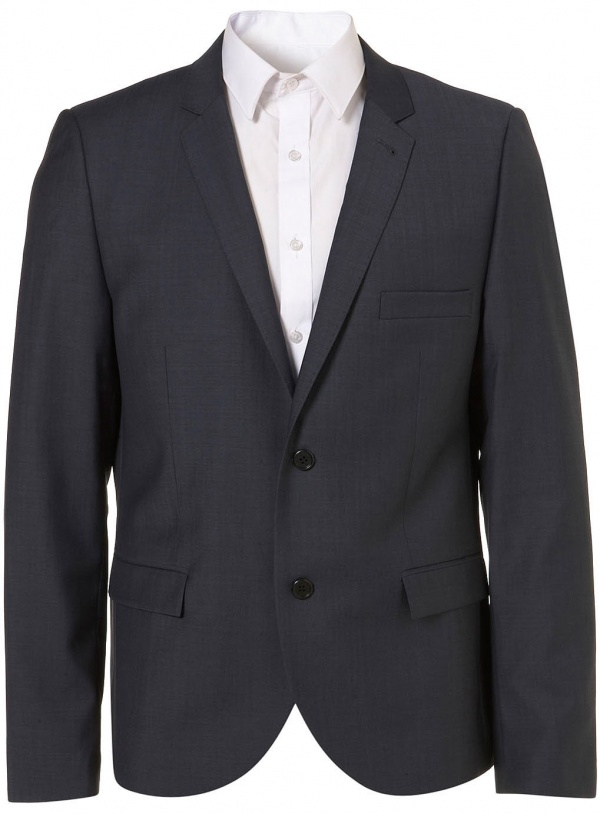 Topman Steel Blue Tonic Suit Jacket1 Topman Steel Blue Tonic Suit Jacket