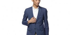 United Arrows Green Label Three-Piece Stripe Suit 1
