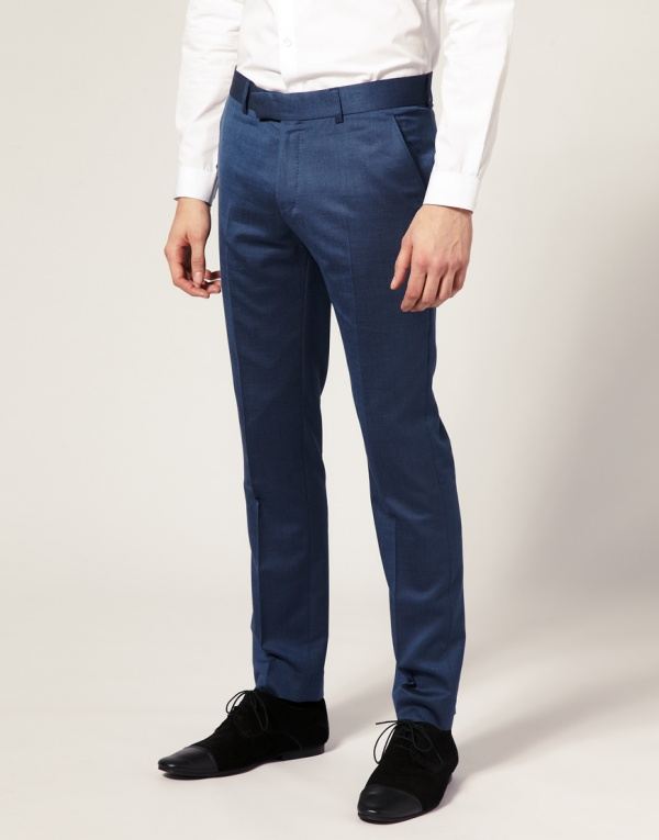 Ben Sherman Blue Tonic Flat Front1 Ben Sherman Blue Tonic Flat Front Pants