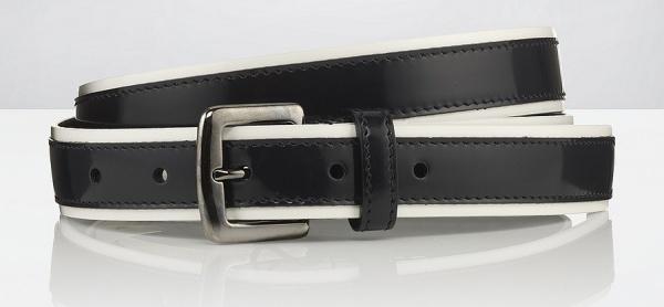 DG Patent Striped Belt Dolce & Gabana Patent Striped Belt