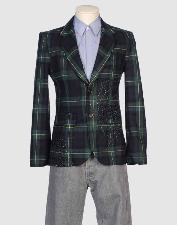 Libertine Plaid Spiderweb Blazer Libertine Plaid Spiderweb Blazer