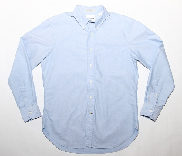 Wharf Clothing The One Blue Buttondown Wharf Clothing The One Broad Cloth OCBD Shirt