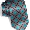 Ermenegildo Zegna Square Print Silk Tie
