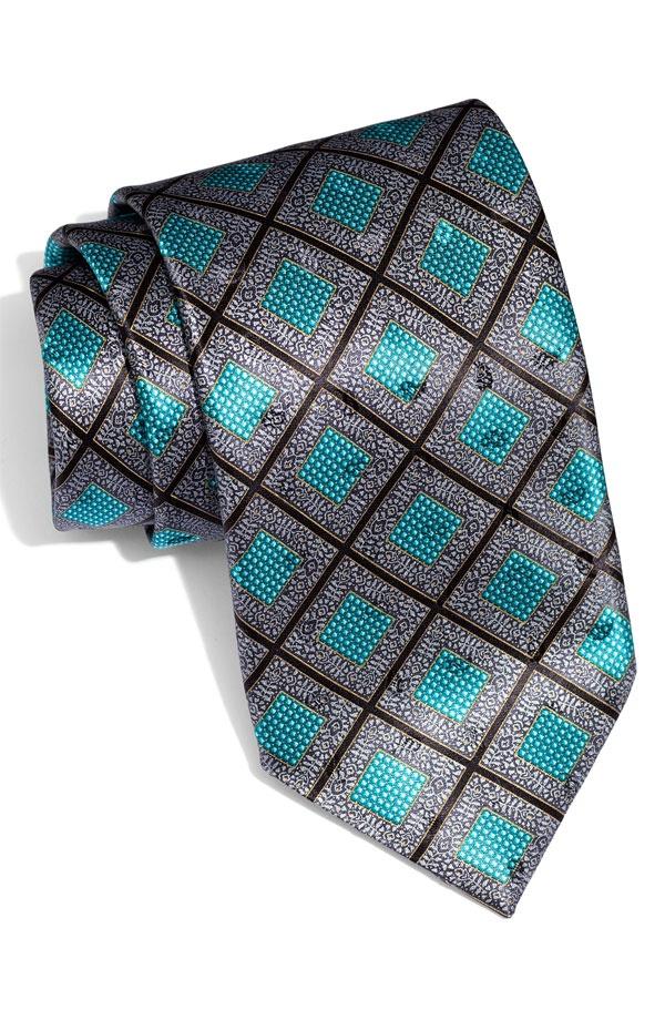 Ermenegildo Zegna Square Print Silk Tie Ermenegildo Zegna Square Print Silk Tie