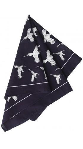 Navy Pheasant hankerchief Cordings Pheasant Hankerchief