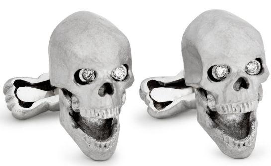 ralph lauren skull shaped cufflinks tsitt Ralph Lauren Skull Cufflinks