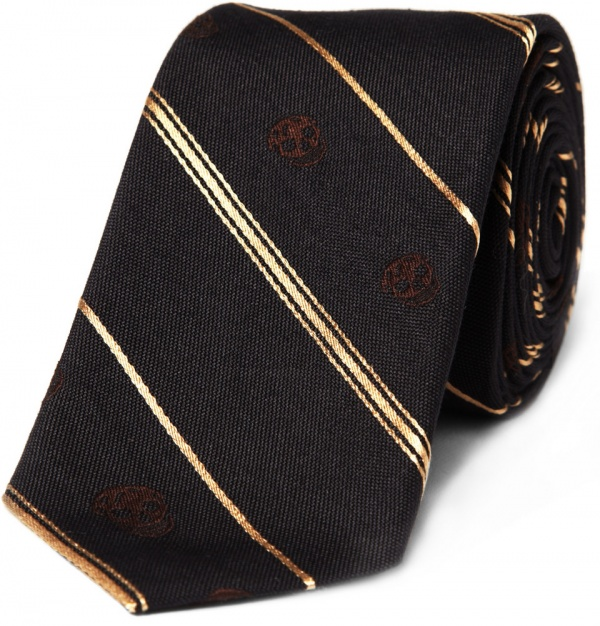 302528 mrp in xl Alexander McQueen Striped Skull Tie