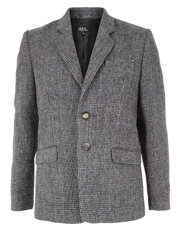 APC Mens H03003 Veste Tra Grey Jacket 1 APC Vest Tradi Grey Jacket