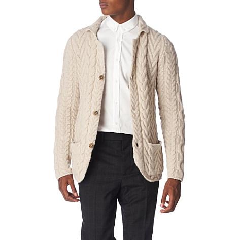 Jil Sanders Cardigan Jil Sanders Cable Knit Cardigan