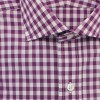 dc75.gb001.047 a1 100x100 Drakes Semi Spread Collar Single Cuff Gingham Shirt