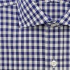 dc75.gb001.048 a1 100x100 Drakes Semi Spread Collar Single Cuff Gingham Shirt