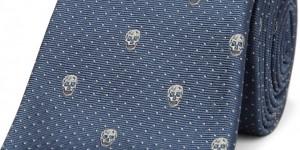 Alexander McQueen Skull Emblem Silk Tie