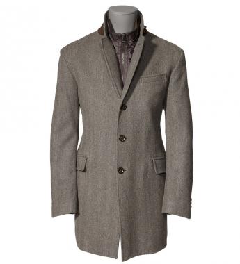 5000 69665 l p1 Mabrun Brown Wool Car Coat