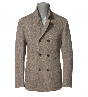 7820 00470 l p1 Brunello Cucinelli Brown Double Breasted Jacket