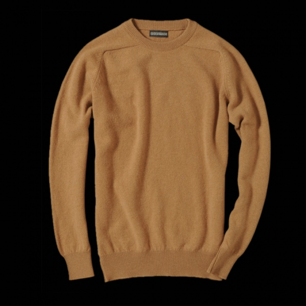The Lambswool Crew in Camel 0 Scott & Charters x Unionmade Goods Lambswool Crew Neck Sweaters
