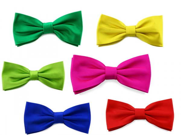 fluo papillon Steve and Co. Satin Fluo Bow Ties