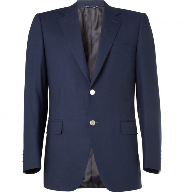 176148 mrp in xl Canali Water Resistant Wool Jacket