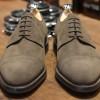 rus2 100x100 John Lobb Pewter Suede Cap Toe Derby Shoe