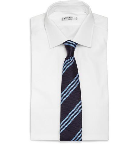 187995 mrp fr l Drakes Triple Stripe Slim Woven Silk Tie