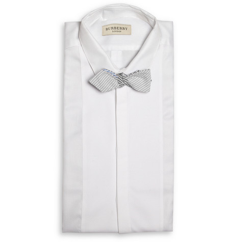 188464 mrp fr l BEAMS Plus Striped Cotton Seersucker Bow Tie