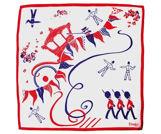 drakes jubilee pocket square 1 Drakes Diamond Jubilee Pocket Square
