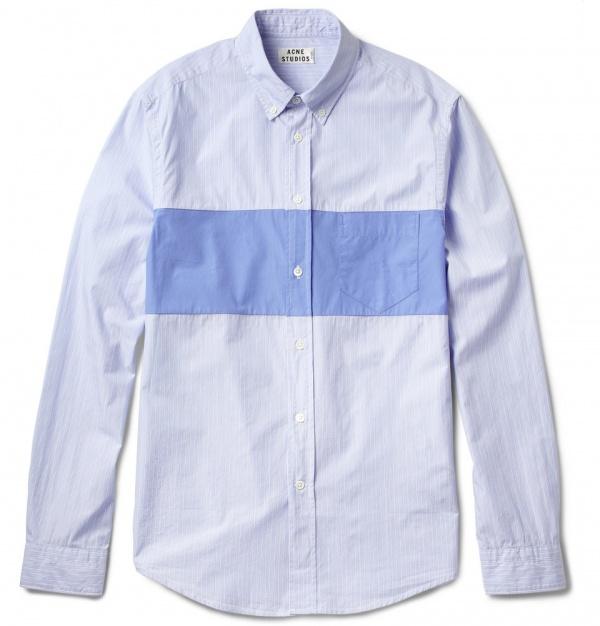 335438 mrp in xl Acne Isherwood Block Striped Cotton Shirt