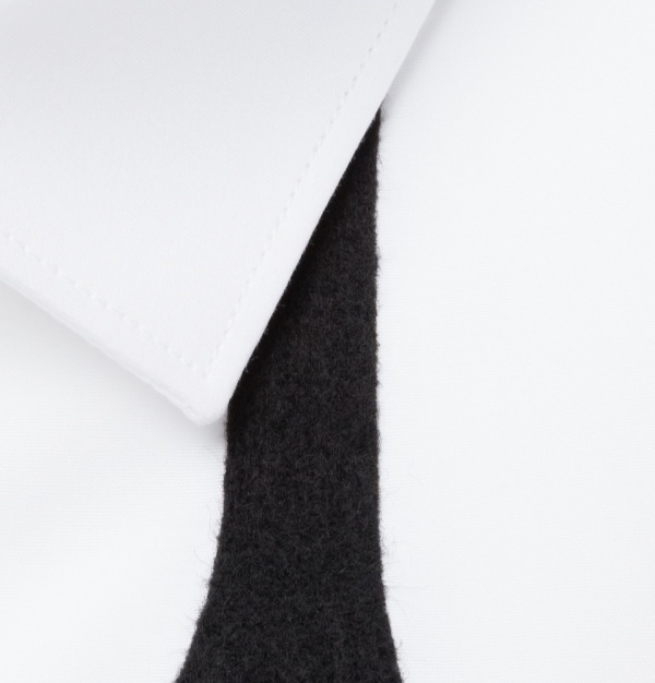 328462 mrp cu xl Neil Barrett Bow Tie Printed Slim Fit Cotton Shirt