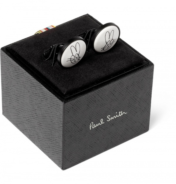 334252 mrp e3 xl Paul Smith Accessories Rabbit Print Cufflink