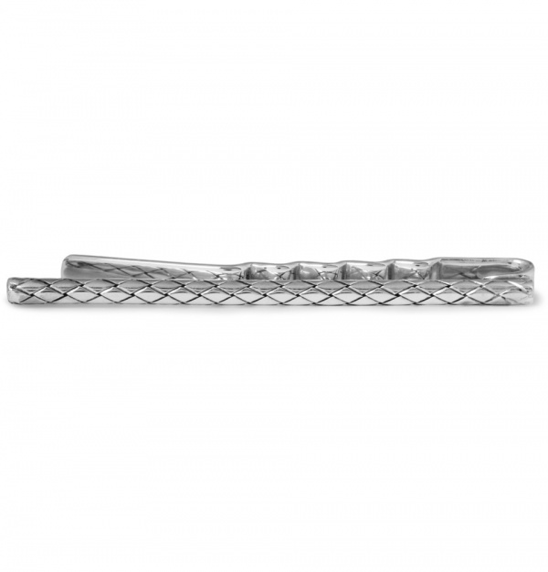 335591 mrp in xl Bottega Veneta Engraved Silver Tie Clip