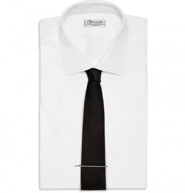 335591 mrp ou xl Bottega Veneta Engraved Silver Tie Clip