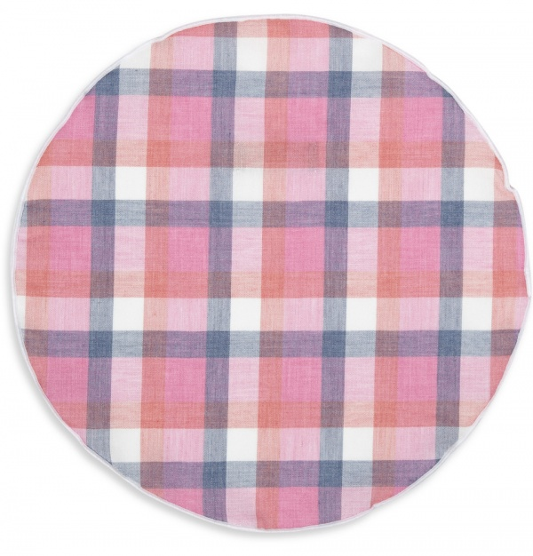 337799 mrp fr xl Alexander Olch Check Cotton Pocket Round