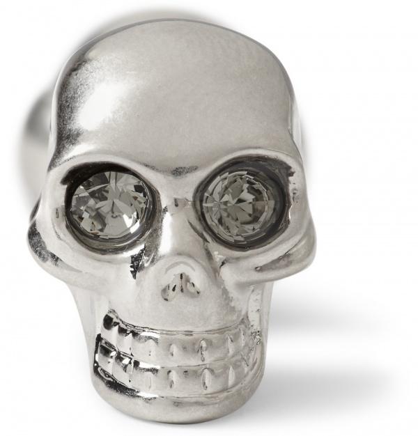 339620 mrp cu xl Alexander McQueen Silver Skull Cufflinks