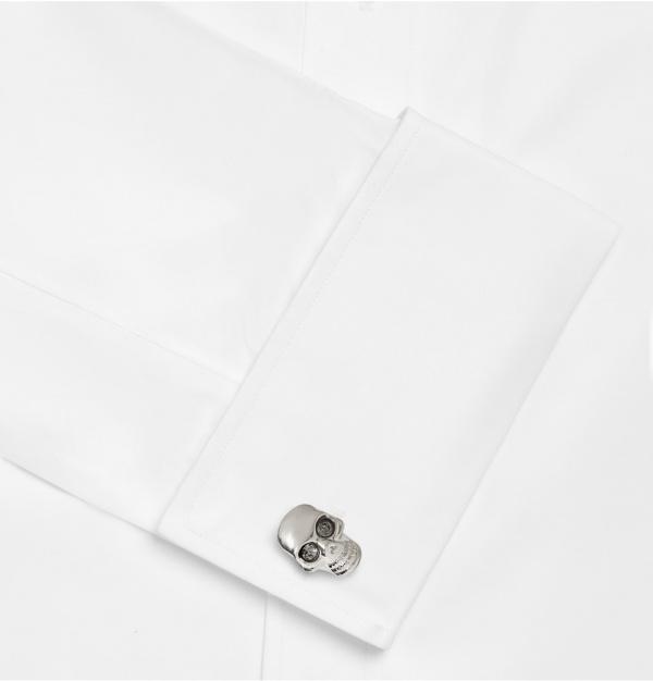 339620 mrp e2 xl Alexander McQueen Silver Skull Cufflinks